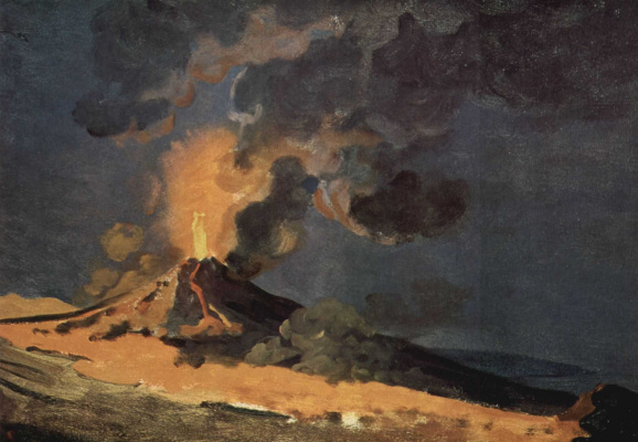 Joseph Wright. The Eruption Of Mount Vesuvius