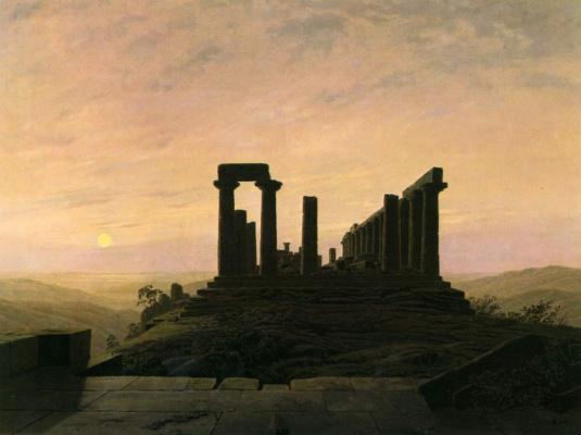 Caspar David Friedrich. Temple of Juno in Agrinte