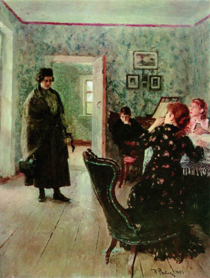 Ilya Efimovich Repin. Did not expect. The original version of the same picture