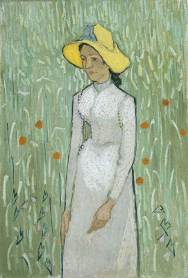 Vincent van Gogh. The girl on the background of a wheat field (Girl in white)