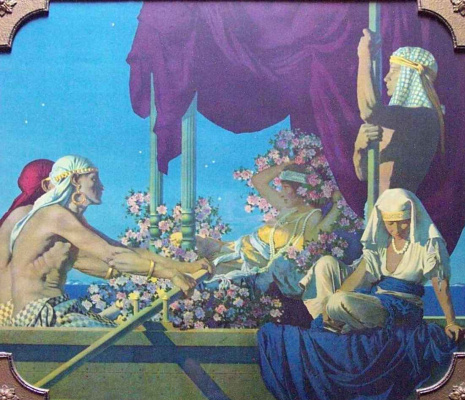 Maxfield Parrish. Cleopatra