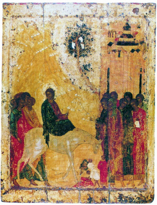 Andrey Rublev. Entrance to jerusalem