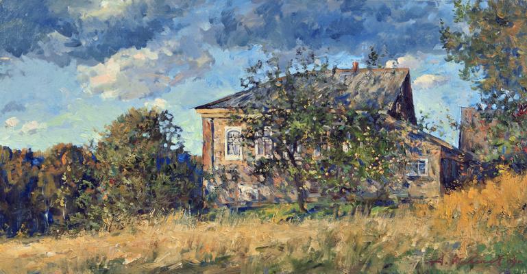 Alexander Victorovich Shevelyov. House Yurchenko.Oil on canvas 31,2 # 60,2 cm, 2009