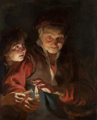 Питер Пауль Рубенс. Старуха и мальчик со свечами