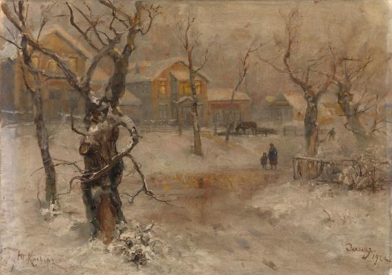 Julius Klever. The Suburbs Of Leningrad.  Sketch
