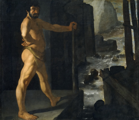 Francisco de Zurbaran. Hercules blocked the river Alpheus