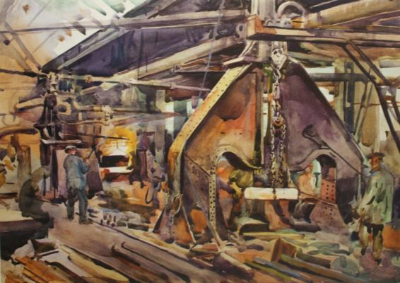 Nikolay Ivanovich Shestopalov. In the shop number 2. 1929