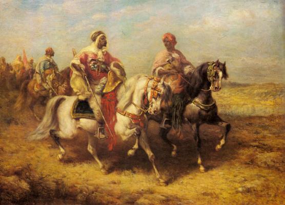 Адольф Шрейер. Арабский вождь и его окружение