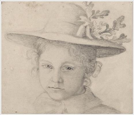 Gerda Wegener. Self-portrait in childhood