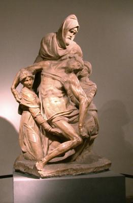 Michelangelo Buonarroti. The Florentine Pieta