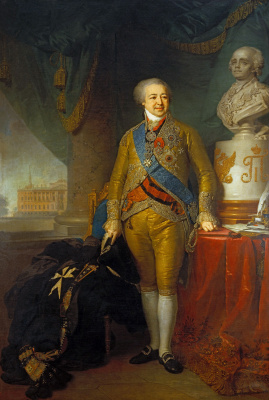 Vladimir Lukich Borovikovsky. Portrait of Prince Alexander Borisovich Kurakin