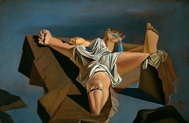 Salvador Dali. Figure on the rocks