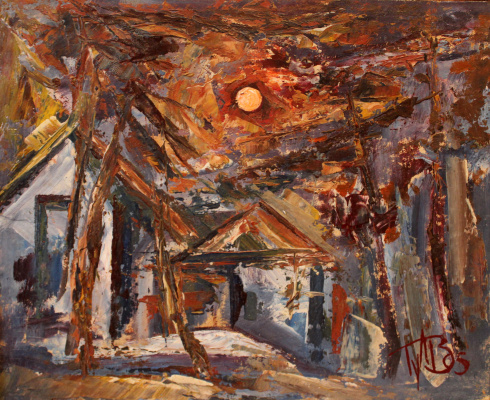 Vladimir Sergeevich Gulyaev. Lunar landscape