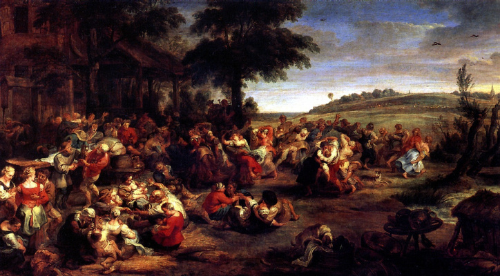 Peter Paul Rubens. Rural wedding