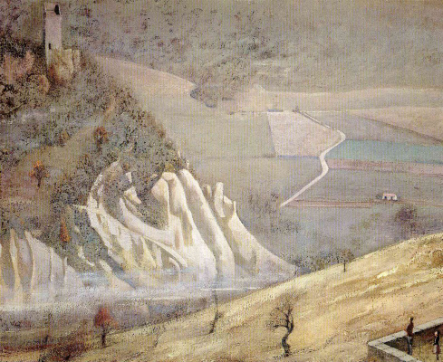 Balthus (Balthasar Klossovsky de Rola). Landscape in Montecalvo, Italy