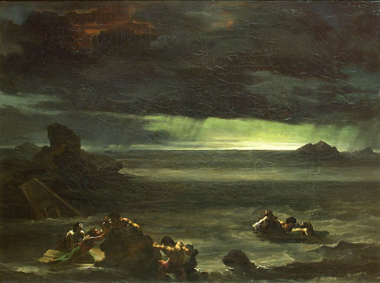 Théodore Géricault. Shipwreck scene