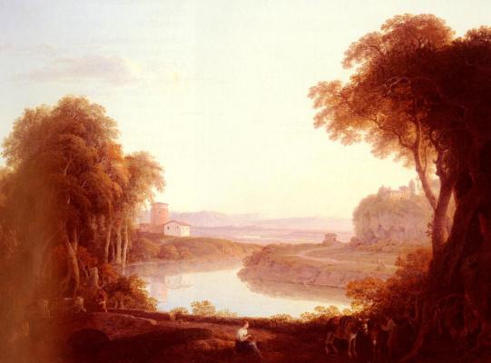 Иаков Мор. Пейзаж с ослами