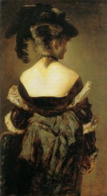 Ганс Макарт. Дама с перьями на шляпе