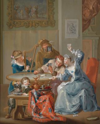 Johann Georg Platzer. Couple. Playing cards
