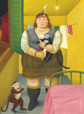 Fernando Botero. Circus Woman in her Trailer
