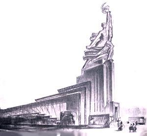Борис Михайлович Иофан. Павильон СССР в Париже