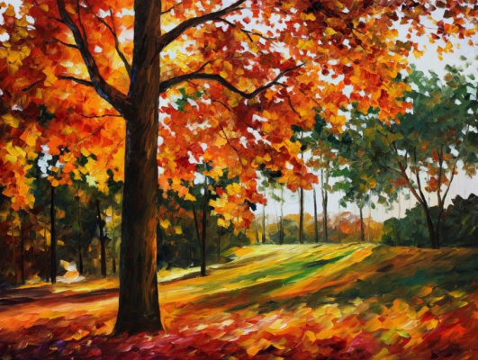 Leonid Afremov. Autumn forest