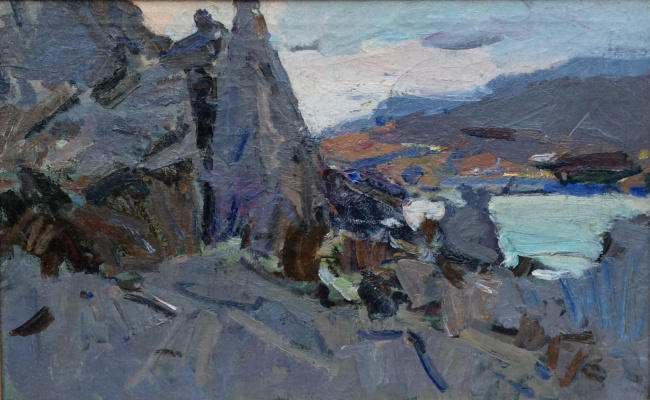 Федор Захарович Захаров. Landscape with rocks