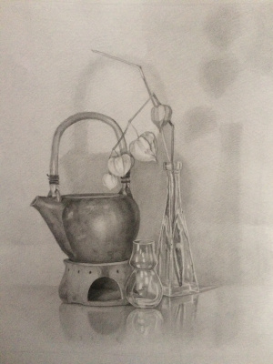 Diana Schegiriova. Still Life with Ceramic Teapot