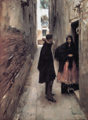 Джон Сингер Сарджент. Улица в Венеции