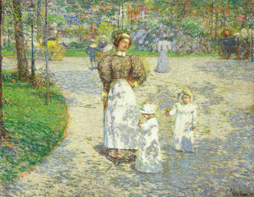 Childe Hassam. Spring in Central Park
