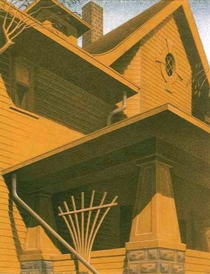 Grant Wood. Mansions on the Mail street
