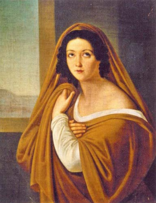 Avdotya Ivanovna Galitzine in the image of a vestal. 1820