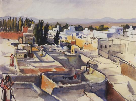 Zinaida Serebryakova. Morocco. Sefrou. The rooftops of the city