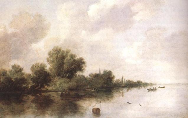 Саломон ван Рёйсдал. Речная сцена1