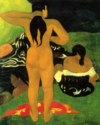 Paul Gauguin. Tahitian women on the beach
