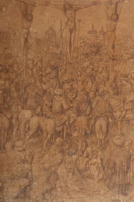 "Jan van Eyck. Drawing for the painting ""the Crucifixion"""