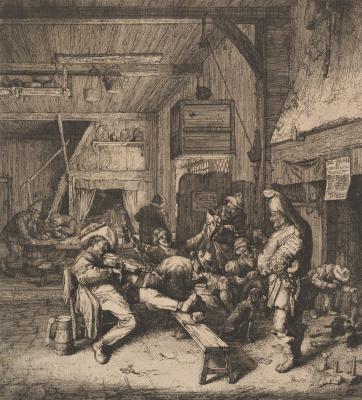 Корнелис Дюсарт. Скрипач в интерьере таверны