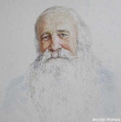 Fedor Dmitrievich Usachev. Portrait N.V. Ledovsky. Actor, journalist, writer.