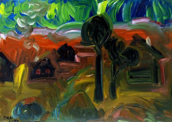 Alexander Ocher Kandinsky-DAE. Autumn landscape. Ertegovo.