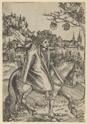 Lucas Cranach the Elder. A Saxon Prince on the horse