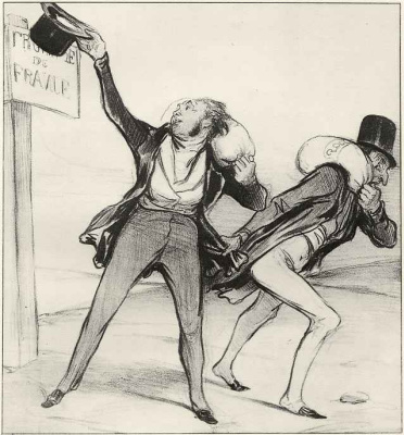 Honore Daumier. Safe