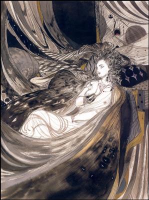 Yoshitaka Amano. Sleeping girl
