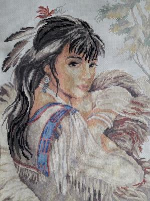 Tatyana Nikulina. Portrait of indian woman