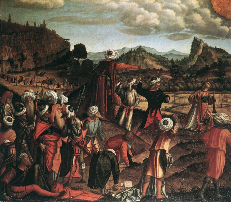 Vittore Carpaccio. The stoning of St. Stephen