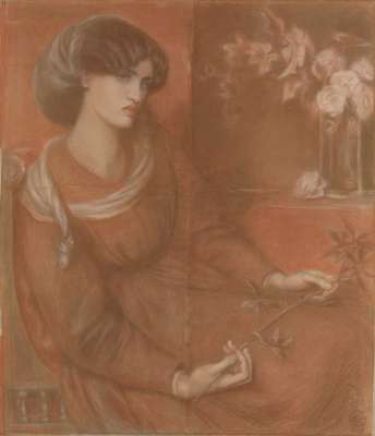"Dante Gabriel Rossetti. Jane Morris. Study for ""Mariana"""
