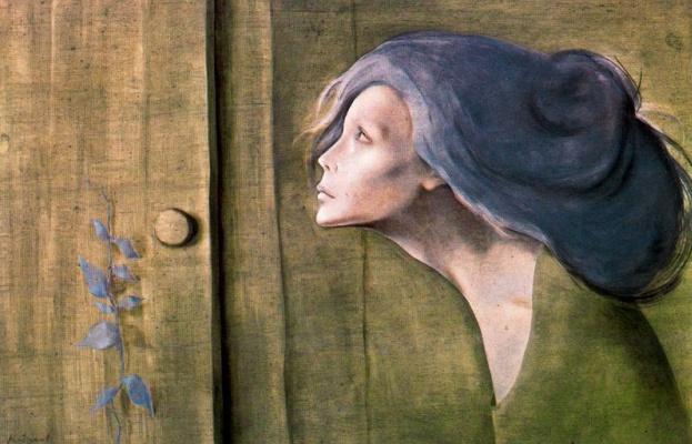 Монтсеррат Гудиол. Синие волосы