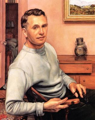 Luigi Lucioni. Self-portrait