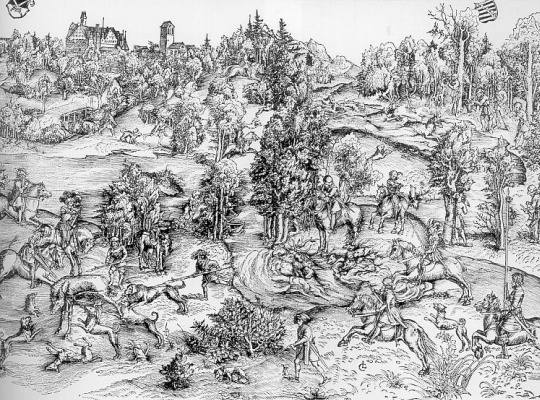 Lucas the Younger Cranach. Forest