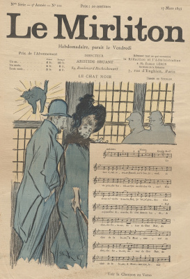 "Theophile-Alexander Steinlen. Illustration for the magazine ""Mirliton"" No. 101, 17 March 1893"