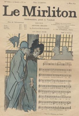 """Теофиль-Александр Стейнлен. Иллюстрация для журнала """"Мирлитон"""" № 101, 17 марта 1893 года"""